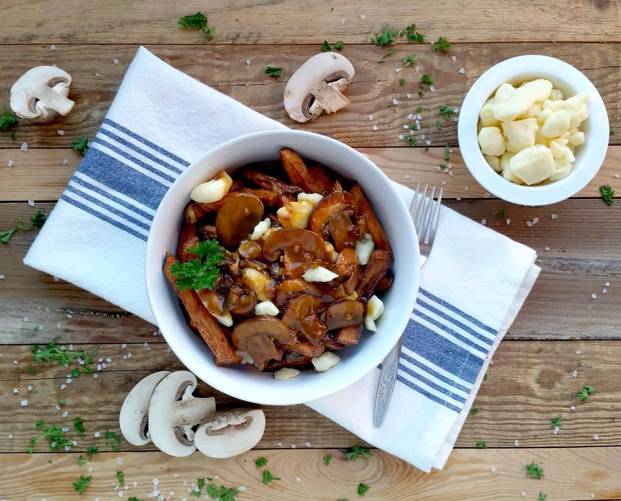 Poutine with Vegetarian Mushroom Gravy