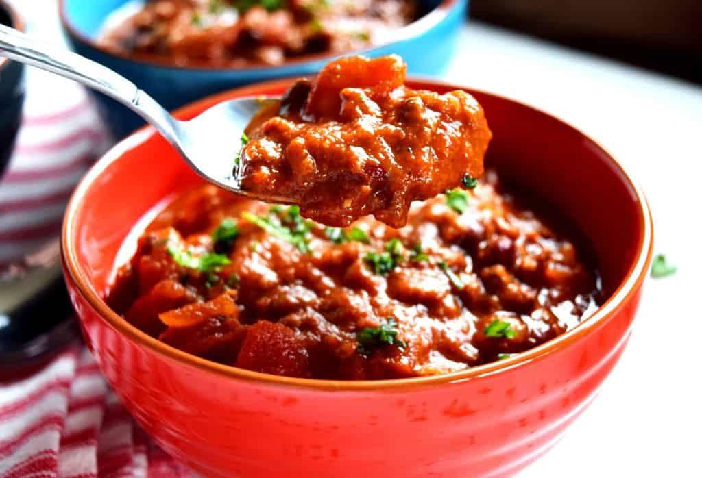 Chunky Vegetarian Beef Chili
