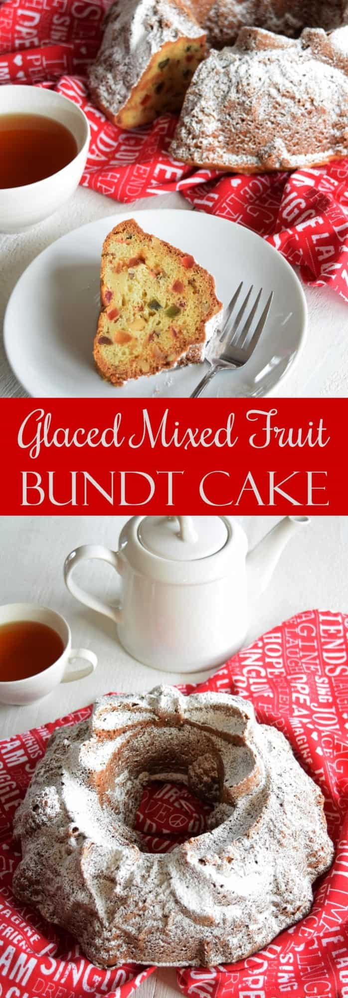 Glace Mixed Fruit Bundt Cake