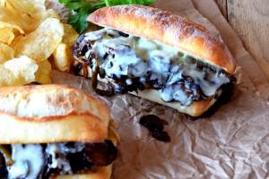Philly Sauteed Mushroom Cheesesteak Sandwich