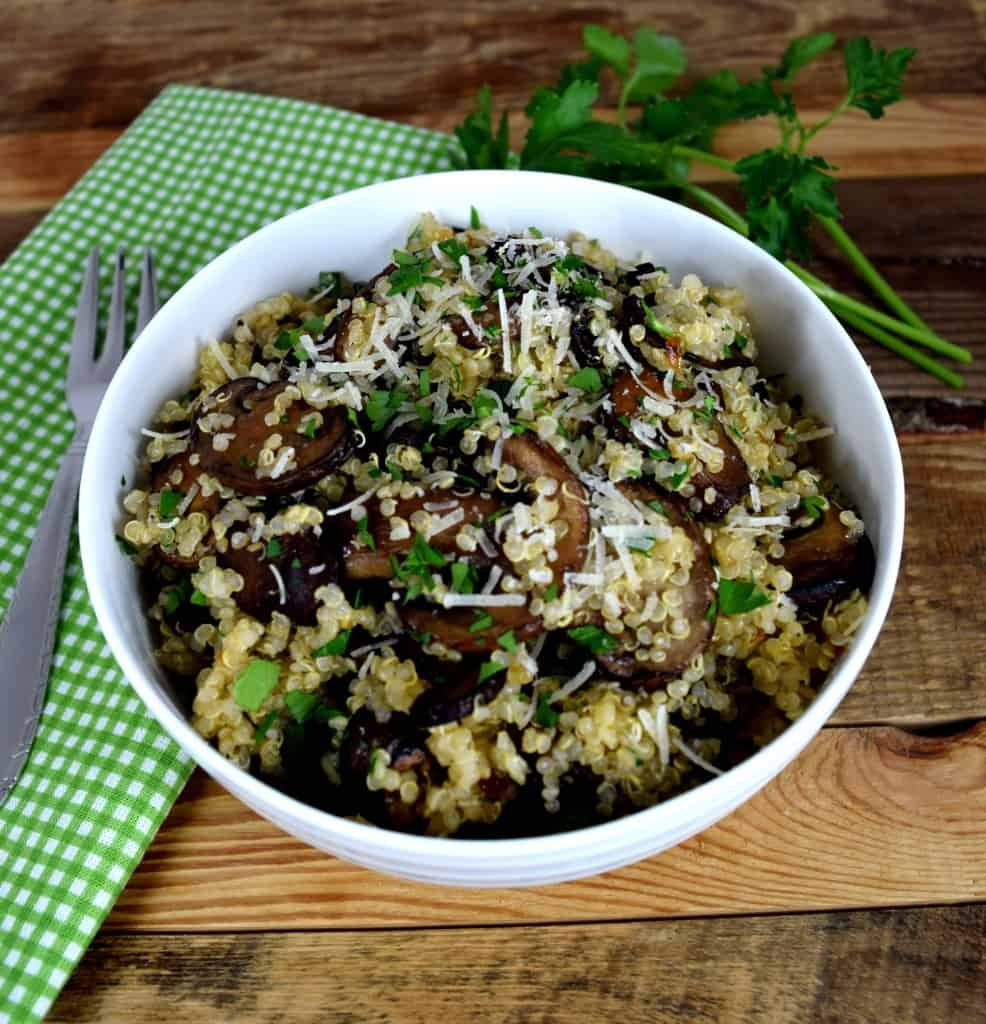 Thyme Mushroom-Quinoa Saute Recipes — Dishmaps