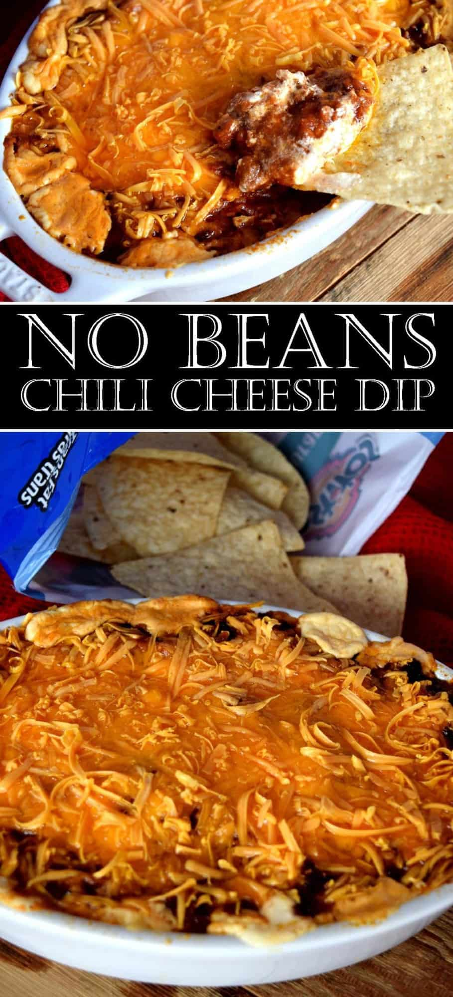 NO BEANS CHILI CHEESE DIP