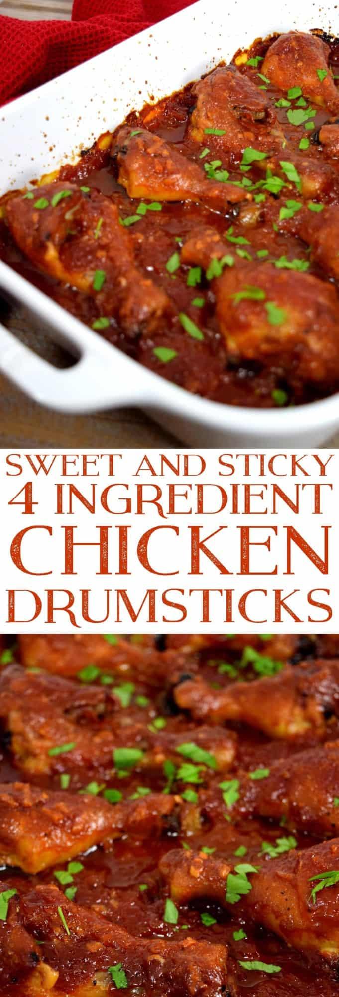 Sweet & Sticky Four Ingredient Chicken Drumsticks 2