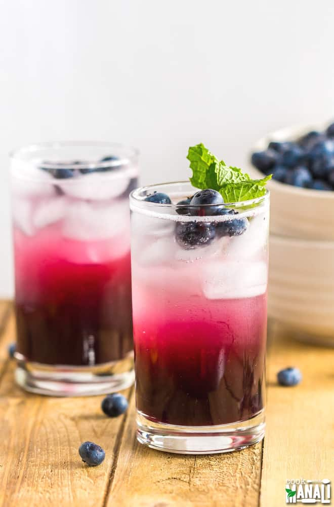 BLUEBERRY GINGER COOLER - COOK WITH MANALI