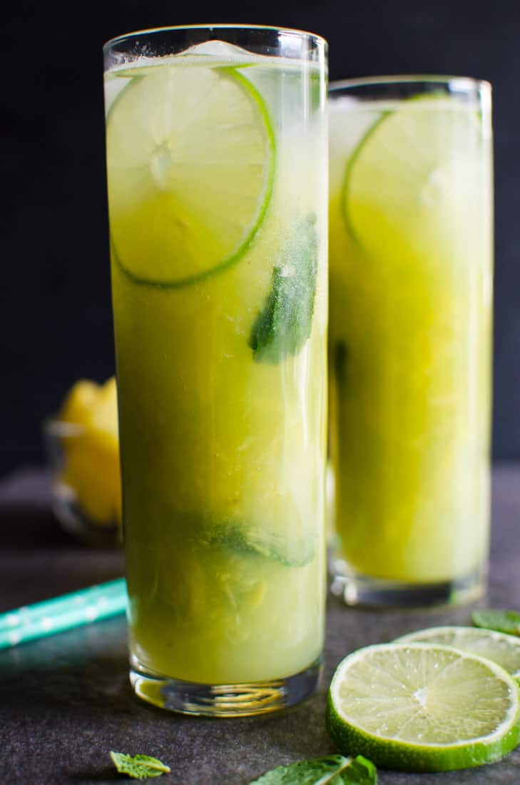 NON ALCOHOLIC PINEAPPLE MOJITO - WATCH WHAT U EAT