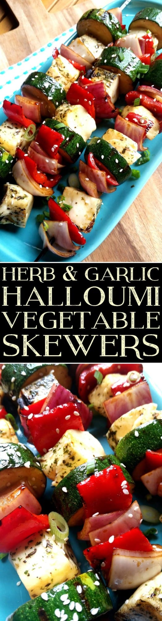 Herb and Garlic Halloum Kebabs