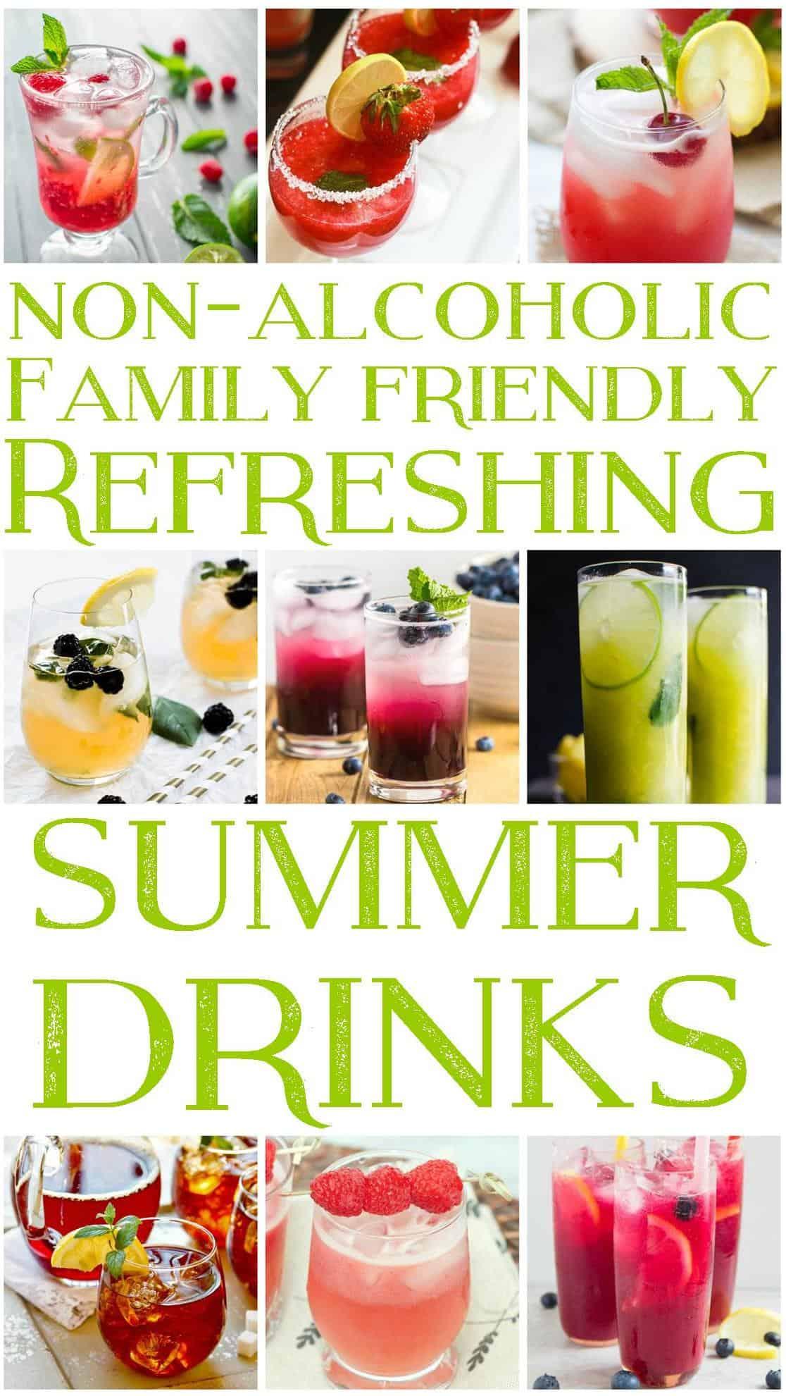 Summer Drinks Pinterest Image