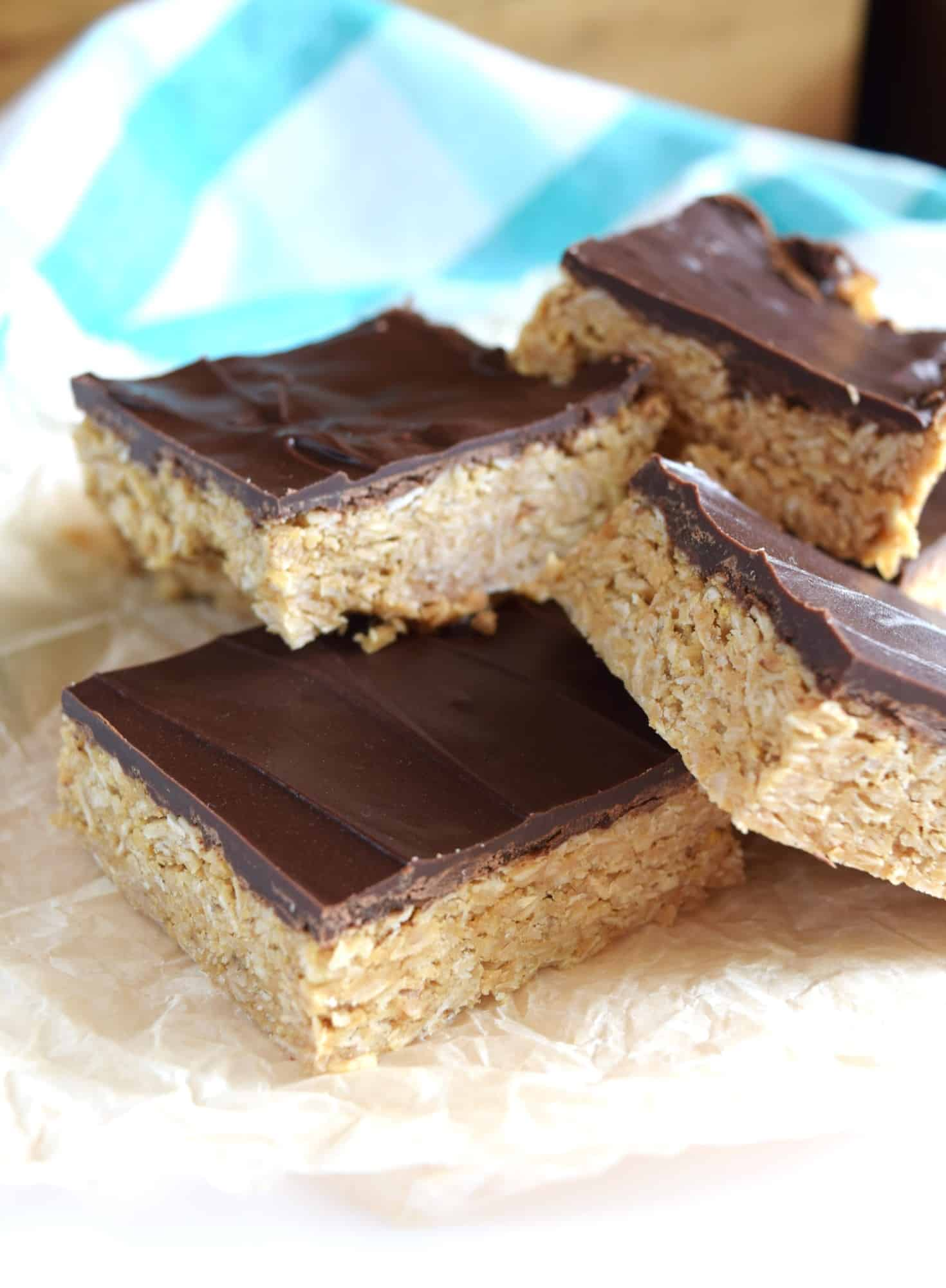 Peanut Honey Oat Bars