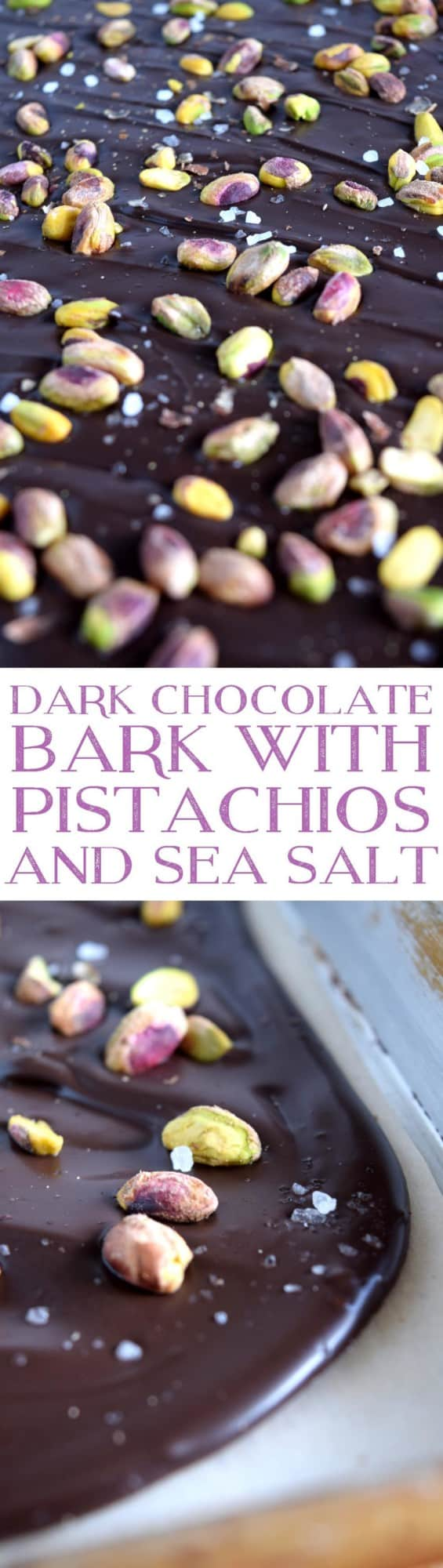 Dark Chocolate Bark with Pistacios and Sea Salt