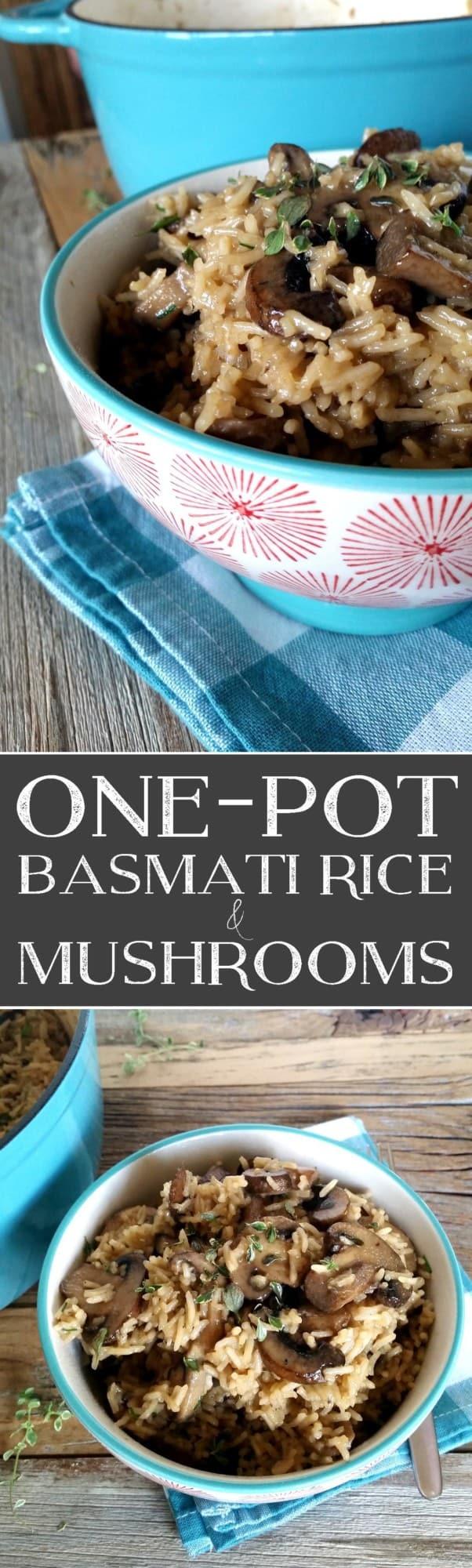 One Pot Basmati Ricee and Mushrooms