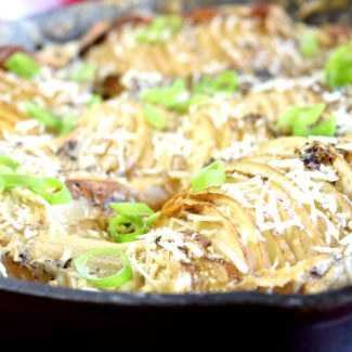 Accordion Skillet Potatoes
